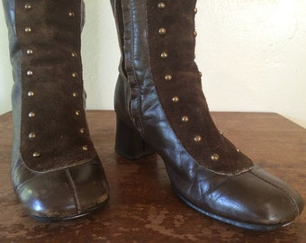 Tall Sassy Vintage Leather Boots