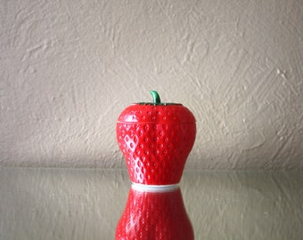 Vintage Milk Glass Strawberry Sugar Bowl