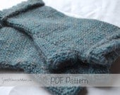 PDF FILE - Dorset Mitts Adult Size - Handwarmer Knitting Pattern - Fingerless Mitts Knitting patterns for little girls