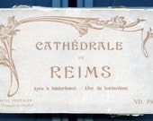 1918 Vintage Souvenir Folder of the Cathedral of Reims-After the Bombardment of WW1