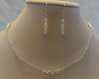 925 Swarovski Crystal Necklace and Earring Set
