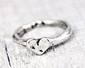 Baby Heart Stacking Ring - Handmade Jewelry - Heart Jewelry - R612