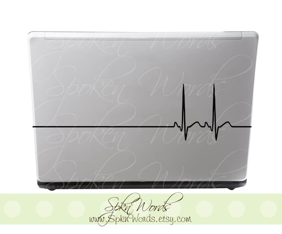 "Heart Beat Sticker Decal for Apple, Macbook, and IPAD ....Your choice of color"" Buy 1 Get 1 Free"