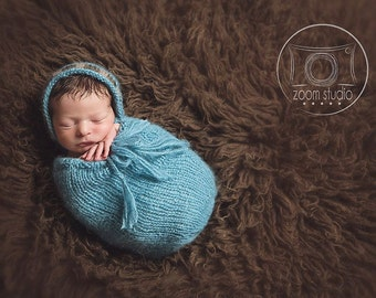 FRENCH, Pod and hat knitting pattern for newborn, ideal photoprops