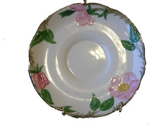 2 Saucers, Franciscan Earthenware, Desert Rose, FREE SHIPPING