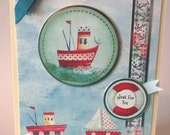 Beside the Seaside - Just For You,  Handmade Card