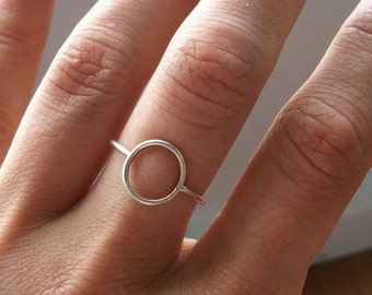 Sterling Silver Smooth Karma Ring, Eternity Ring, Infinity Ring, Stacking Ring, Knuckle Ring, custom made to order