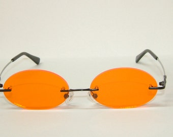 Anime orange cosplay costume glasses