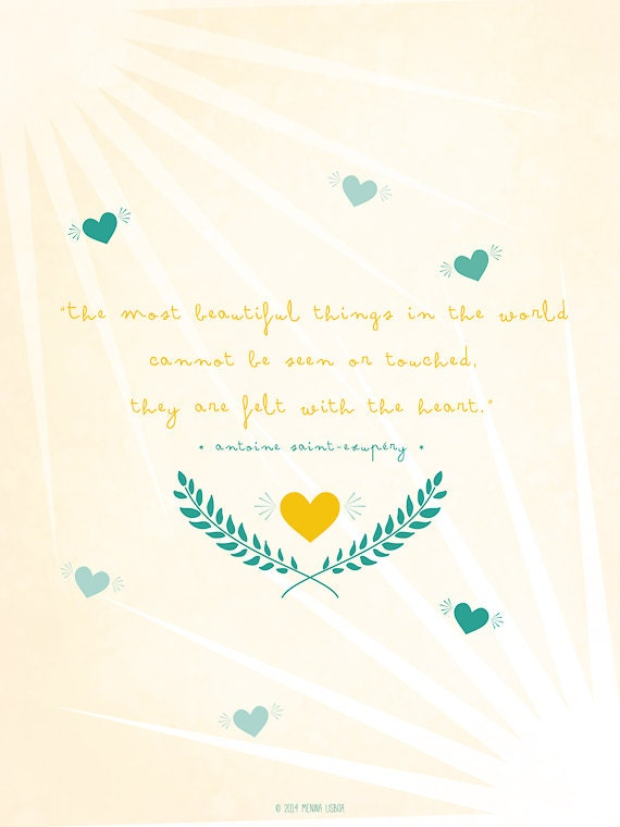 The Little Prince Famous Quotes Quotesgram: Items Similar To The Little Prince Quote, Inspirational