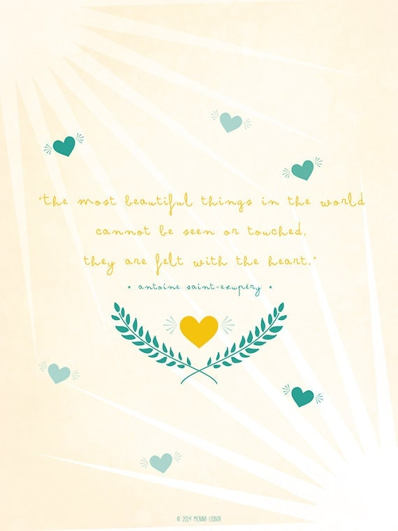 The Little Prince Quotes And Sayings: Items Similar To The Little Prince Quote, Inspirational