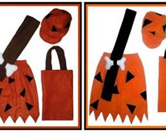 Bamm Bamm Flintstones Custom Made Child Halloween Costume w/ Hat & Treat Bag