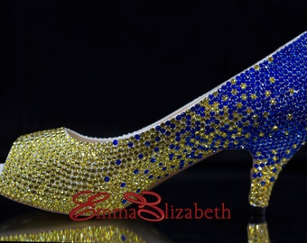 Embelished Crystal Luxury Multi Color Ombre  Pumps