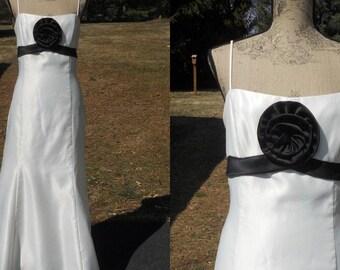 Vintage Jessica McClintock Gunne Sax Gown Ivory Bridesmaid Dress Empire Waist  Formal Size 11