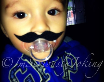Mustache Pacifier-Baby Mustache-baby costume-Little Man Party-Mustache Party-Baby Shower gift-Baby gift-Mustache pacifier-baby boy gift