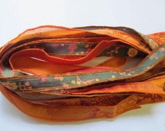 Wrap Bracelet Ribbon, Silk Ribbon, Yoga Bracelet,  WR3