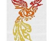 Counted Cross Stitch Pattern - Fire Phoenix