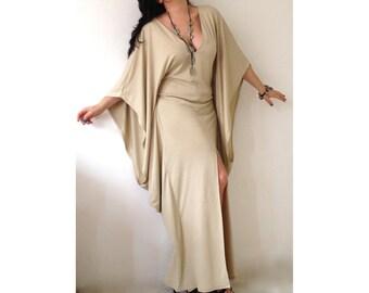 Abaya Maxi Dress Plunge V Neckline Kaftan  Kimono Dress Floor Length Plus Size Kaftan Maxi Dress Made to Masure Butterfly Dress Abaya Dress