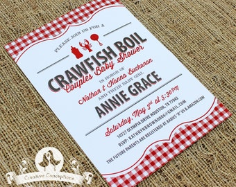 Crawfish Boil Baby Shower Invitation