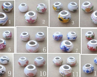 12pcs ( Mixed color )  ceramic beads 9mmx13mm  M004