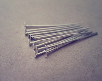 100 pcs silver color head pins 22mm