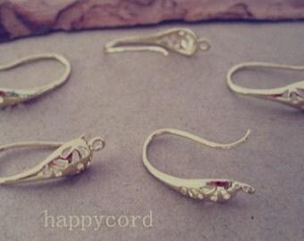 10pcs 10mmx19mm gold  color (copper) ear hooks Earrings Accessories
