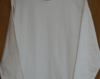 vintage white 'Mill Valley Cotton'     long sleeve top . . .   size large. . . . womens