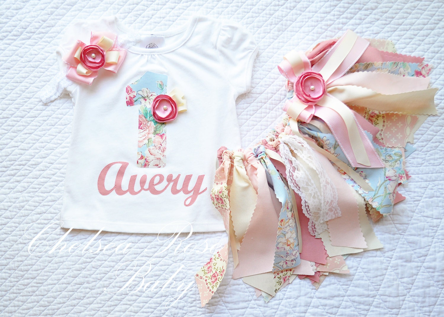 Shabby fabric tutu set shabby birthday outfit by chelsearosebaby - Shabby chic outfit ideas ...