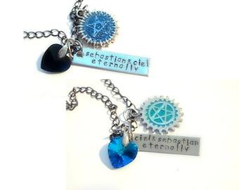 Ciel & Sebastian Best Friends/Lovers Necklaces