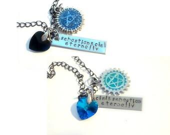Inspired Ciel & Sebastian Best Friends/Lovers Necklaces