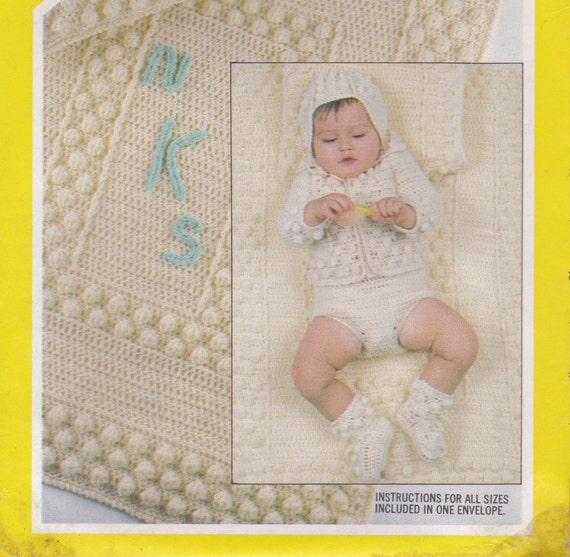 Crochet Pattern for Baby Sweater Hat Panties by ...