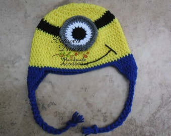 Yellow Monster Earflap Hat