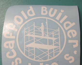 Scaffold Builder's Wife decal..Choose your color! Can be customized or personalized