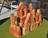 Tough Blocks, Redwood, Heirloom, Handmade