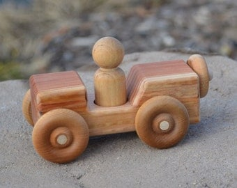Jeep, WW 2, Redwood Jeep, Toy Car, Handmade