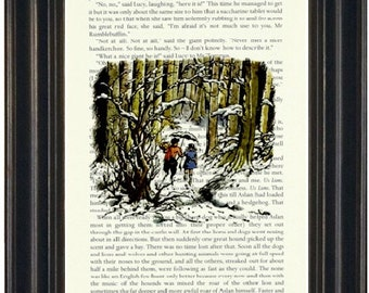 Narnia Book Page Print Recycled Book Page