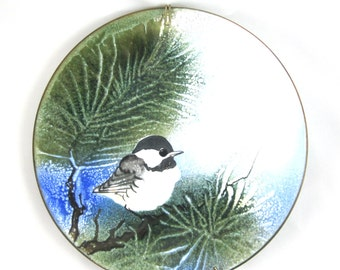 Special Sale - Vintage Norman Brumm Chickadee plate -