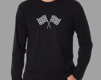 Men's Long Sleeve T-shirt - Created using list of  NASCAR National Series Race Tracks