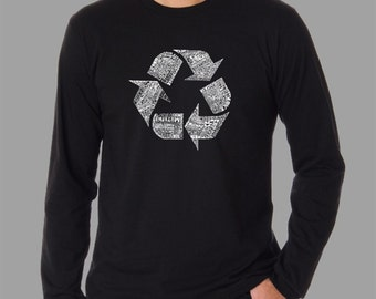 Men's Long Sleeve T-shirt - Created using 86 recyclable items