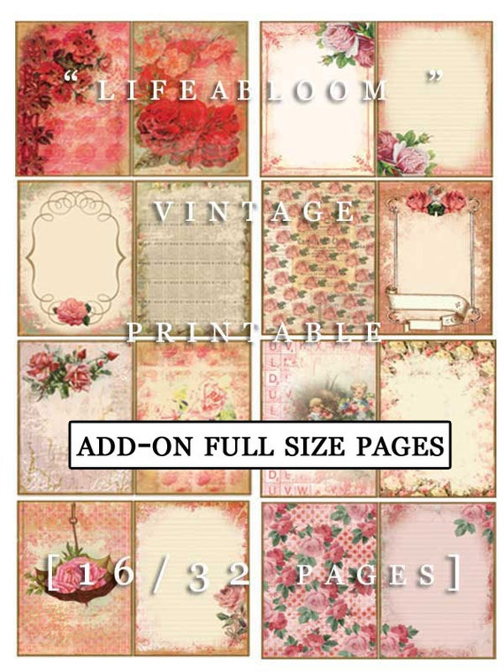 Add On Life Abloom Full Size Pages- INSTANT DOWNLOAD