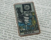 Tarot Lapel Pin Death tarot jewelry mixed media jewelry