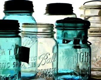 Original Photograph of Vintage Glass Jars