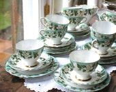RESERVED FOR KYLA 3 X Gladstone 'montrose' vintage china tea cup trios