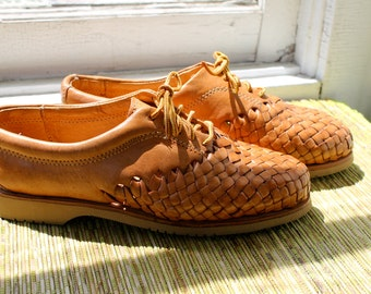 Vintage Eddie Bauer Weaved Loafers Mexico Womens 6