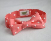 Coral Dot Infant/Baby/Toddler Bow Tie and/or suspenders - Great Photo Prop, Cute for Weddings, Cake Smashing
