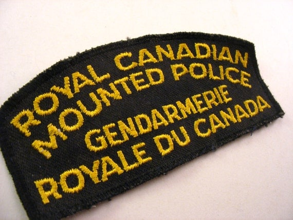 Fabric Patch Rcmp Royal Canadian Mounted Police Embroidered