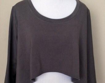 Bamboo Organic French Terry Yoga Sweatshirt Shirt for Women