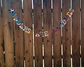 READERS ARE LEADERS Board Book Upcycled Garland Bunting