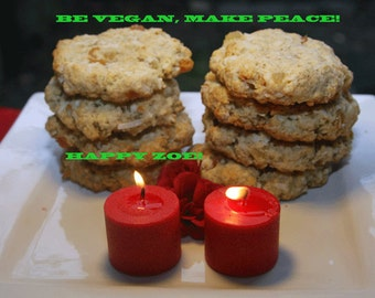Vegan Ginger Mango Coconut Funny cookies, love, natural,healthy ingredients,wedding,birthday.