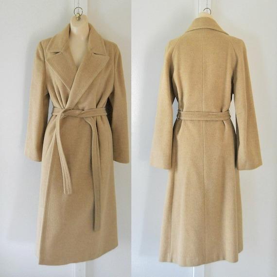 Women Winter Coat Camel Hair Coat Belted Coat Ladies Trench