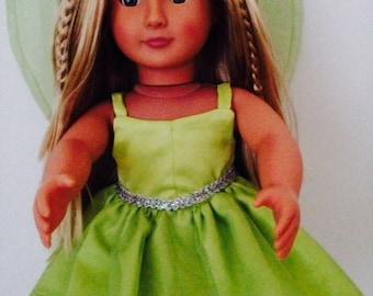 "Sale Disney's Tinker Bell Dress for 18"""" doll"